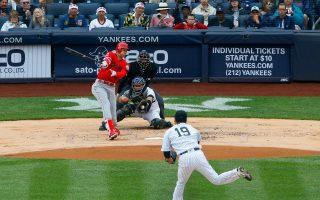 MLB/田中将大指叉球压制 大谷翔平生涯对战安打未开张