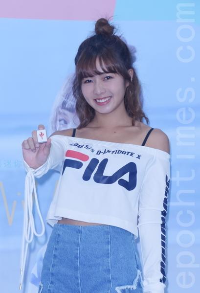 Dewi簡廷芮「大衛女孩」向前衝溜冰造勢媒體活動