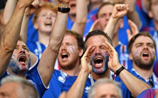 """组图:冰岛1/10人口的""""维京战吼""""震撼世界杯"""