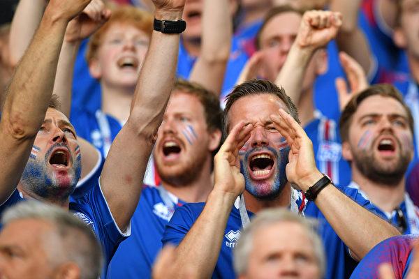 組圖:冰島1/10人口的「維京戰吼」震撼世界盃