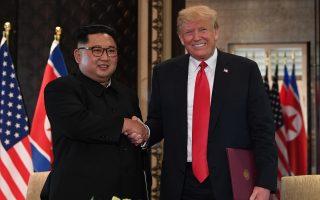 川金会签四大声明 北韩承诺无核化