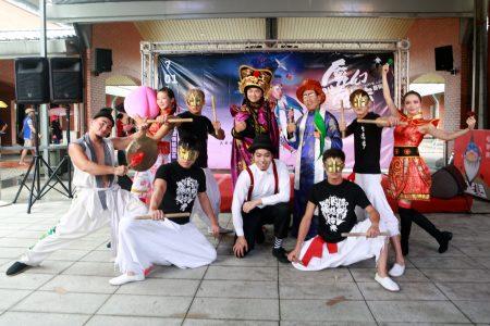 """""""2018魔幻戏法艺术节""""艺想台湾剧团的《聊斋幻彩-偷桃》。"""