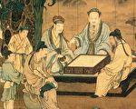 南宋 刘松年《十八学士图》局部。(公有领域)
