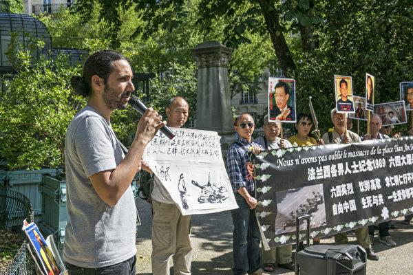 前记者无疆界亚洲部负责人本杰明参加纪念活动并发言(关宇宁/大纪元)