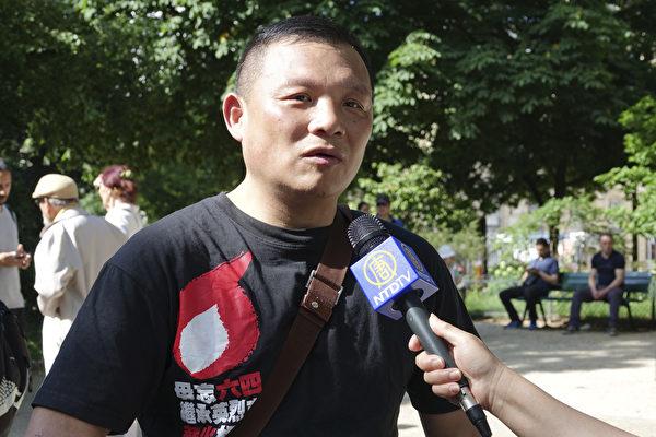 六四天安门广场学生纠察队总指挥张健(关宇宁/大纪元)