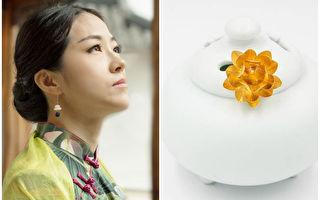 """弘扬传统文化 纽约华裔珠宝设计师用心打造""""纯净之莲"""""""