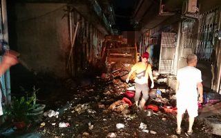 苏澳垃圾车气爆3伤 14住户玻璃破损