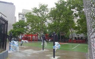 華埠哥倫布公園添健身器材