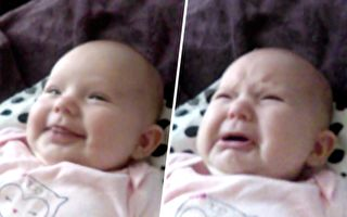 萌宝宝听到妈妈唱歌 竟马上皱眉哭泣!