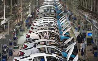 中共宣佈22領域放寬市場准入。根據清單,汽車行業取消專用車、新能源汽車外資股比限制。圖為位於中國湖北省武漢的東風本田工廠的生產線。(STR/AFP/Getty Images)