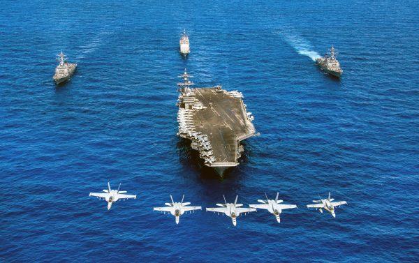 美國航空母艦卡爾文森號(尼米茲級)。 (AFP)
