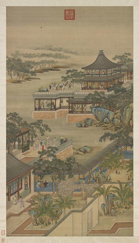 圖為清 畫院《十二月月令圖.八月》局部。(公有領域)