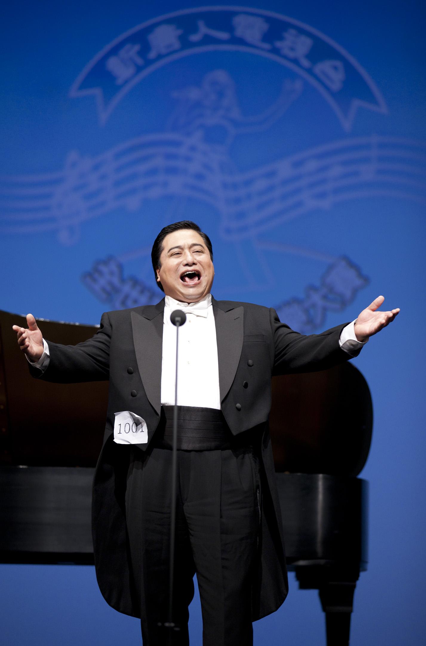 天歌參加新唐人第四屆《全球華人聲樂大賽》決賽。 (愛德華 / 大紀元)