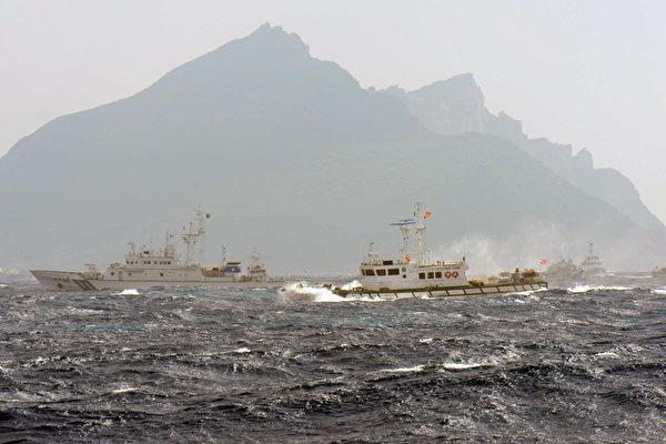 4艘中共海警船進入釣魚台海域 日本抗議