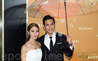首次夫妻檔出席活動 鄭嘉穎為陳凱琳遮風擋雨