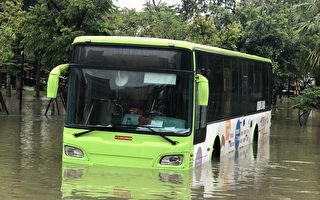 南台湾豪雨不断 25日停班停课一览