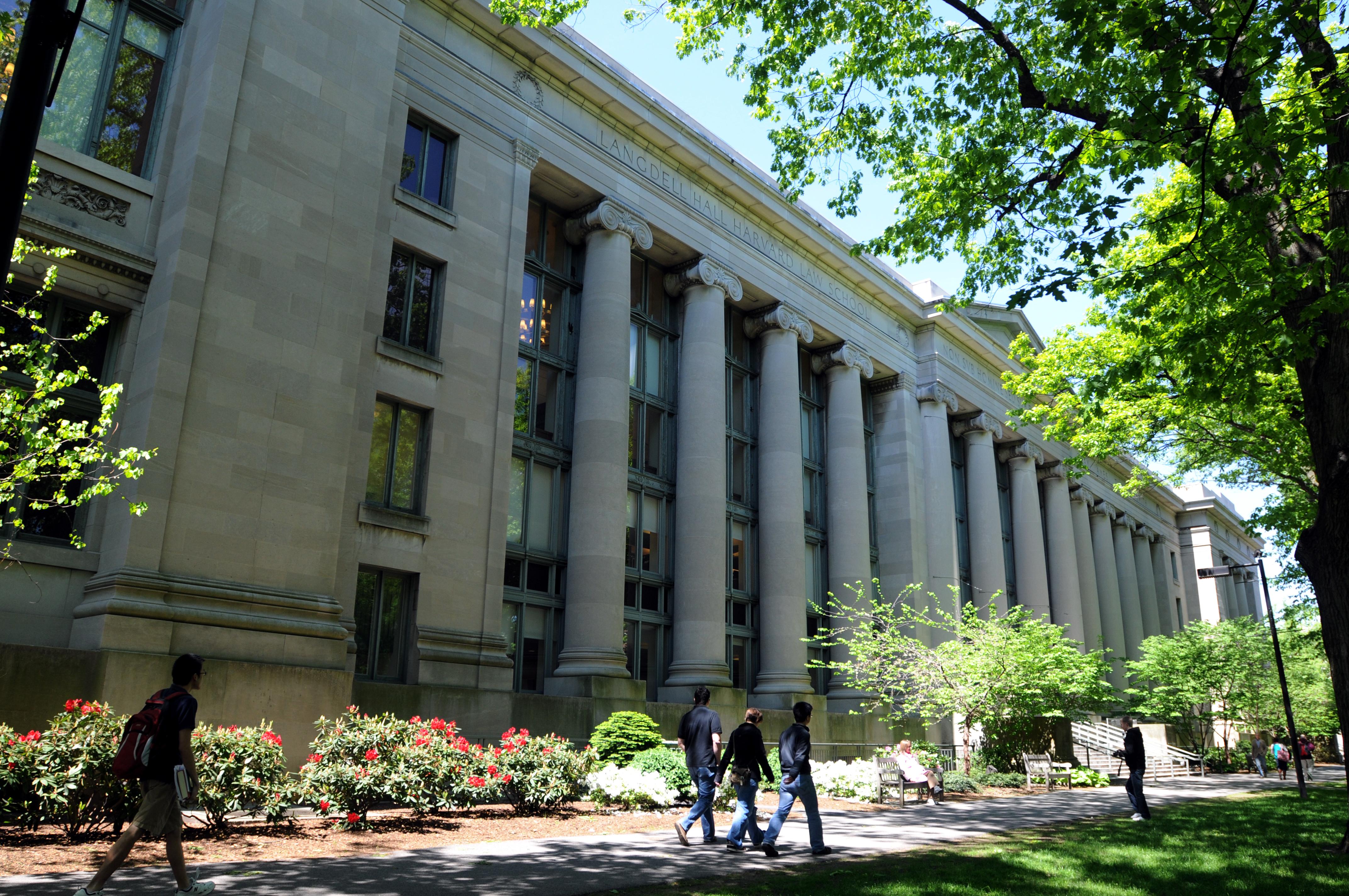 位於麻薩諸塞州的哈佛法學院。(大紀元資料庫)