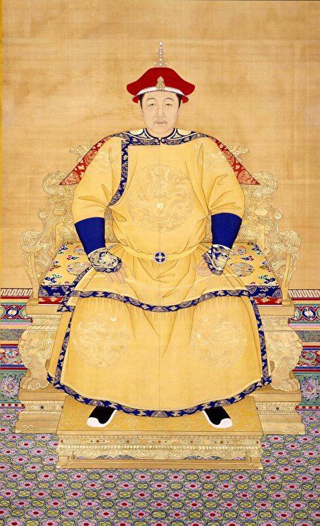 清 佚名《清世祖顺治皇帝朝服像》。(公有领域)