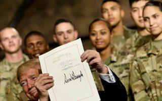 川普签国防授权法 外交、国防部表感谢
