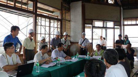 嘉義市長涂醒哲16日上午11時前往東門派出所關心施工進度,與警察局、文化局等單位討論調查研究的狀況。
