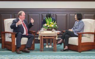 接見歐洲議員 蔡英文:盼歐盟台灣簽投資協定