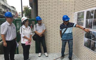 林姿妙與林顯宗  視察國華國中通學步道施工品質