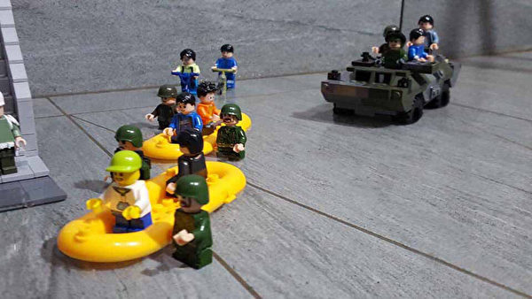 组图:台积木达人组装陆海空军事装备 超逼真