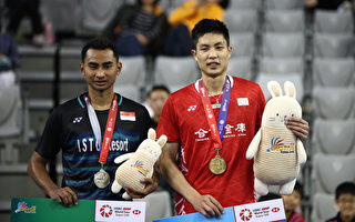 韓國羽球公開賽 周天成直落二封王 奪本季第三冠
