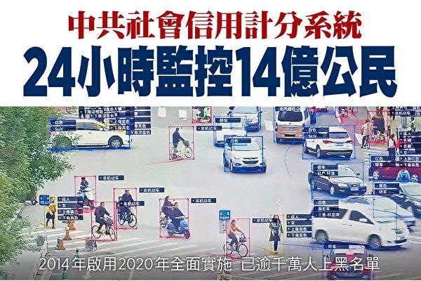中共社会信用计分系统 24小时监控14亿公民
