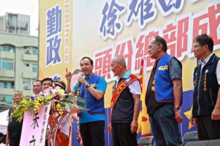 新北市長朱立倫肯定徐耀昌執政成績有目共睹,更肯定他從政實幹認真的精神。
