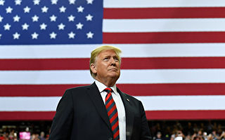 US President Donald Trump looks on at the crowd during a rally at JQH Arena in Springfield, Missouri on September 21, 2018. (Photo by MANDEL NGAN / AFP) (Photo credit should read MANDEL NGAN/AFP/Getty Images)