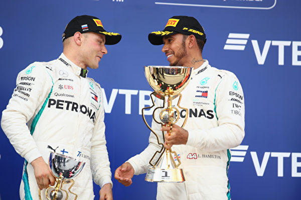 F1俄罗斯站:博塔斯让车 汉密尔顿夺冠
