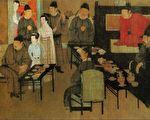 图为五代 顾闳中《韩熙载夜宴图》(局部)。(公有领域)