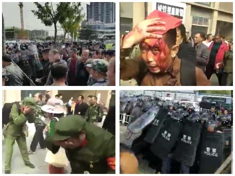 中共批捕19名去年抗議的維權老兵