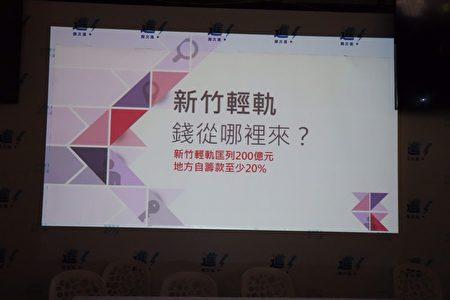 新竹市长候选人谢文进指出钱坑轻轨不可行