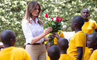组图:美国第一夫人造访肯尼亚孤儿院