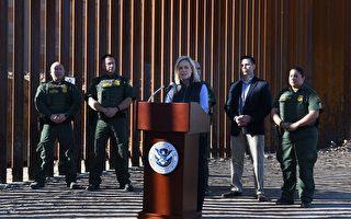 新边境墙加州落成 美国土安全部长到访发言