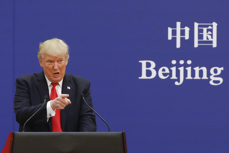 著名對沖基金經理巴斯(Kyle Bass)於10月23日告訴CNBC,中共在面臨著17年來「最差財政狀況」,在美中貿易戰中給了特朗普總統重大優勢。 (Photo by Thomas Peter-Pool/Getty Images)