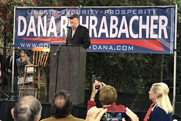 橙縣民眾集會支持羅拉巴克競選連任