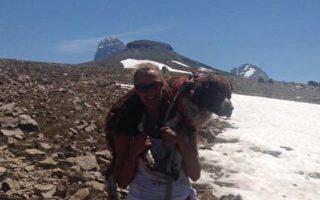 她勇扛50斤傷狗走20里下山 如得神助收獲連連