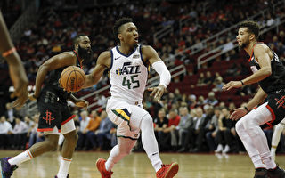 NBA米契爾38分 爵士擊落火箭