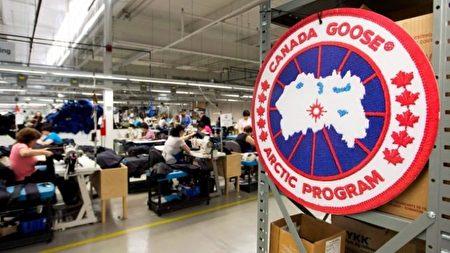 加拿大鵝被仿冒,令該公司無可奈何。圖為加拿大鵝製造廠。(加通社)