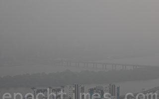 受中國霧霾影響 韓國首都天空灰濛濛
