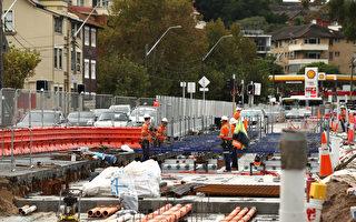 悉尼輕軌項目路障正在陸續拆除