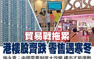 贸易战下 香港楼市股市齐跌 零售遇寒冬