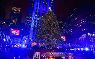 洛克菲勒中心圣诞树点灯  今晚登场