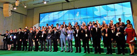 市府同時舉行《台中宣言》簽署儀式,邀全世界178個國內、外單位共同簽署宣言。