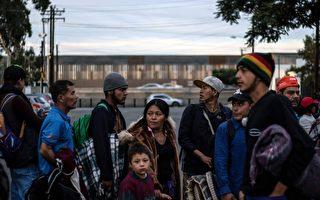 两千大篷车移民抵边境 十多人非法越境被捕