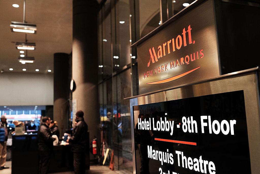 全球最大的連鎖酒店集團萬豪國際(Marriott)表示,其麾下的喜達屋(Starwood)酒店客戶預訂數據被黑客侵入,可能多達5億客人的信息被洩露。(Spencer Platt/Getty Images)