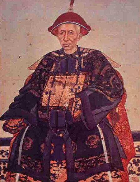 拉瑪四世身著清朝畫像。 。 (公有領域)